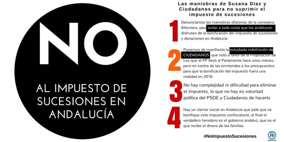 Las maniobras de @_susanadiaz y @CiudadanosCs para NO suprimir el impuesto desucesiones